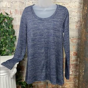 NWT Jones New York Knit Top Indigo Melange